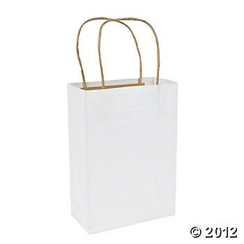 White Medium Kraft Paper Gift Bags 21nature