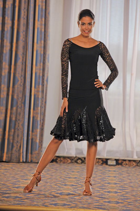 0c3b2726636 Dance America S314 - Short Lace Godet Skirt    Ballroom Dancing Shoe     Ladies Apparel    Skirts