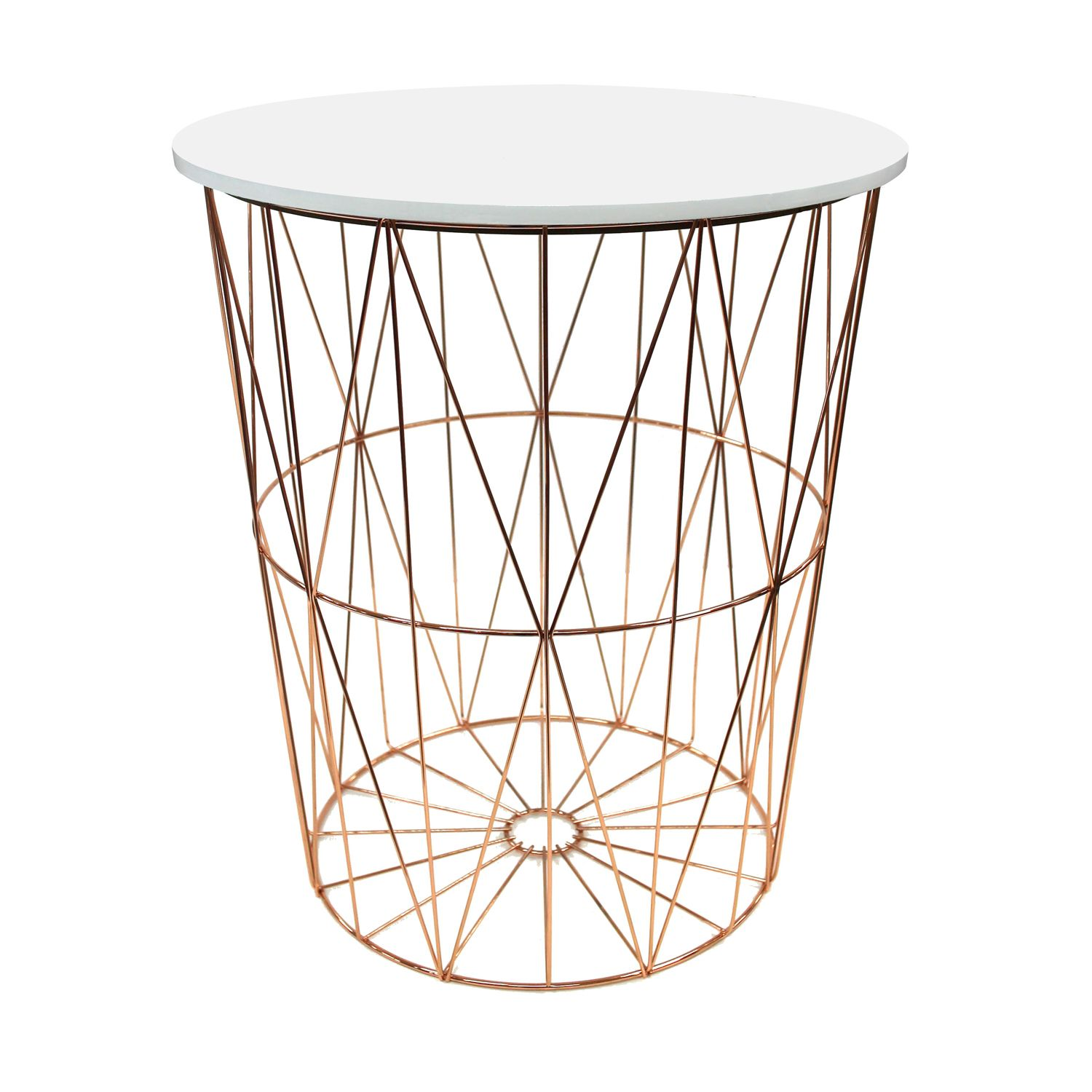 Hexa Rose Gold Wire Basket With Lid Wire Basket Decor Gold Wire Basket Wire Baskets