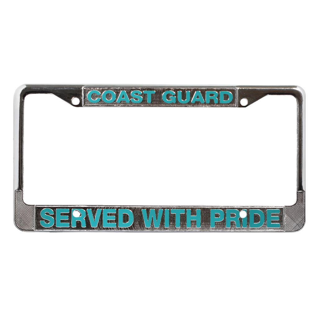 US Coast Guard Veteran License Plate Frame
