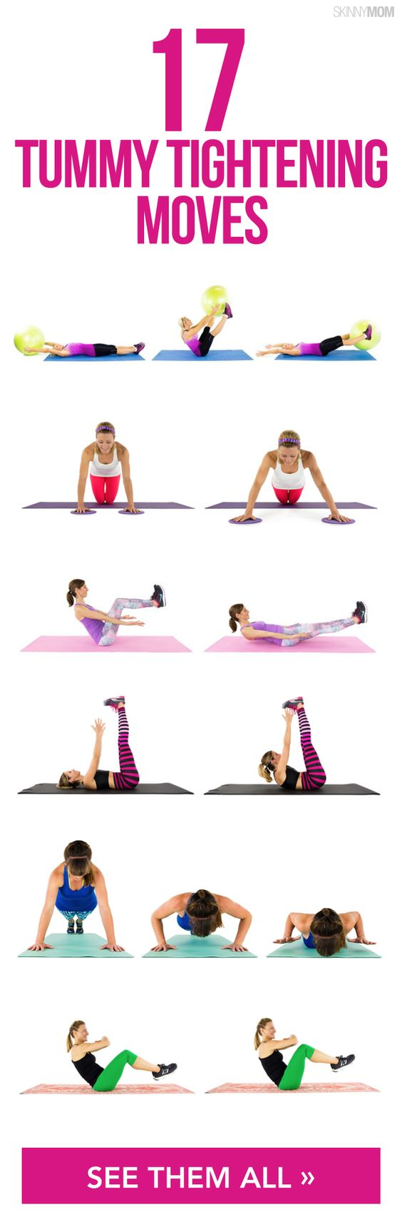 17 Moves To Tighten Any Tummy  Even Yours  Abs Workout -4455
