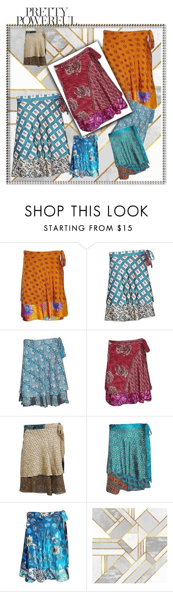 Boho short wrap skirts by baydeals on Polyvore  http://stores.ebay.com/mogulgallery/Silk-Sari-Skirts-/_i.html?_fsub=761673819&_sid=3781319&_trksid=p4634.c0.m322