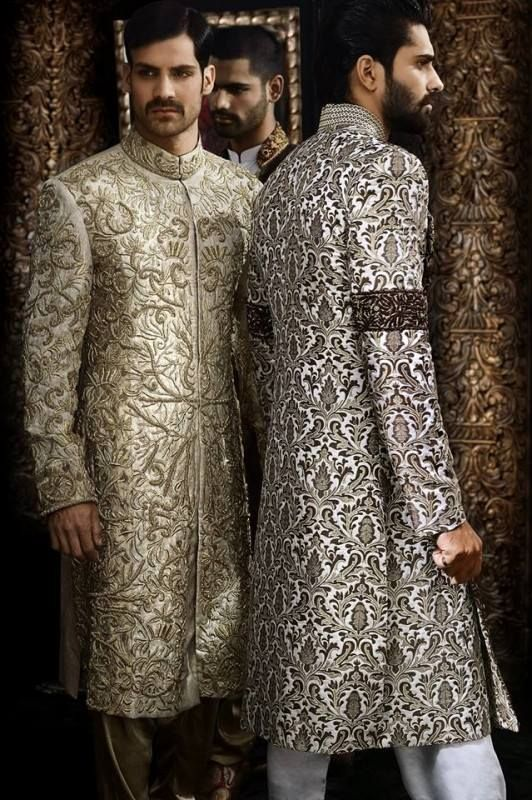 Arsalan iqbal groom sherwani collection 2014 olokosmon for Robes de mariage en consignation richmond va