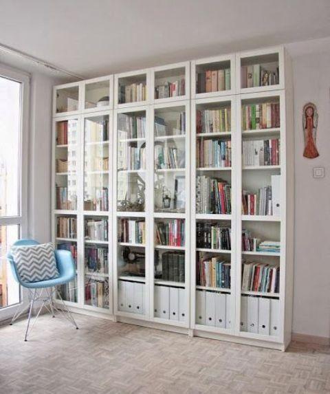 Obwohl Die Boden Decke Design Bieten Erheblich Mehr Speicher Bucherschrank Mit Glasturen Ikea Bucherschrank Billy Bucherregal