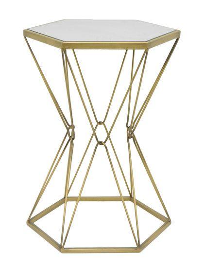 Hexagonal Accent Table By Three Hands At Gilt Bureau