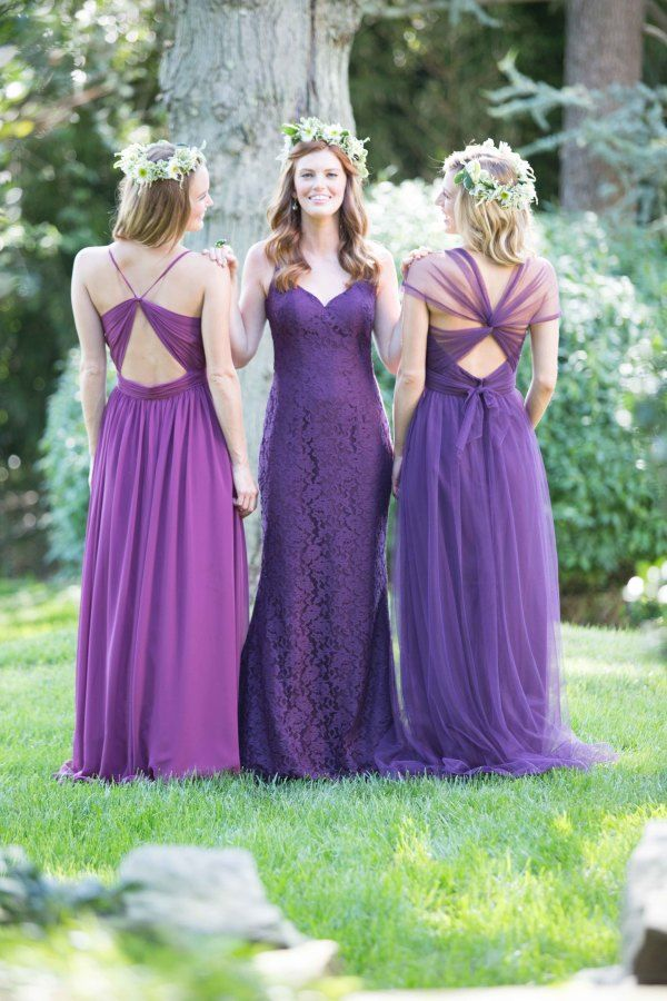 Purple ,deep plum Mix 'n' Match Bridesmaid Dresses | fabmood.com
