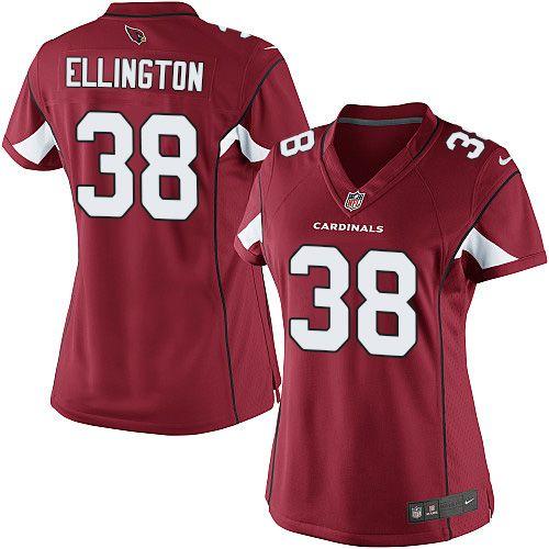 Limited Andre Ellington Womens Jersey - Arizona Cardinals #38 Home ...