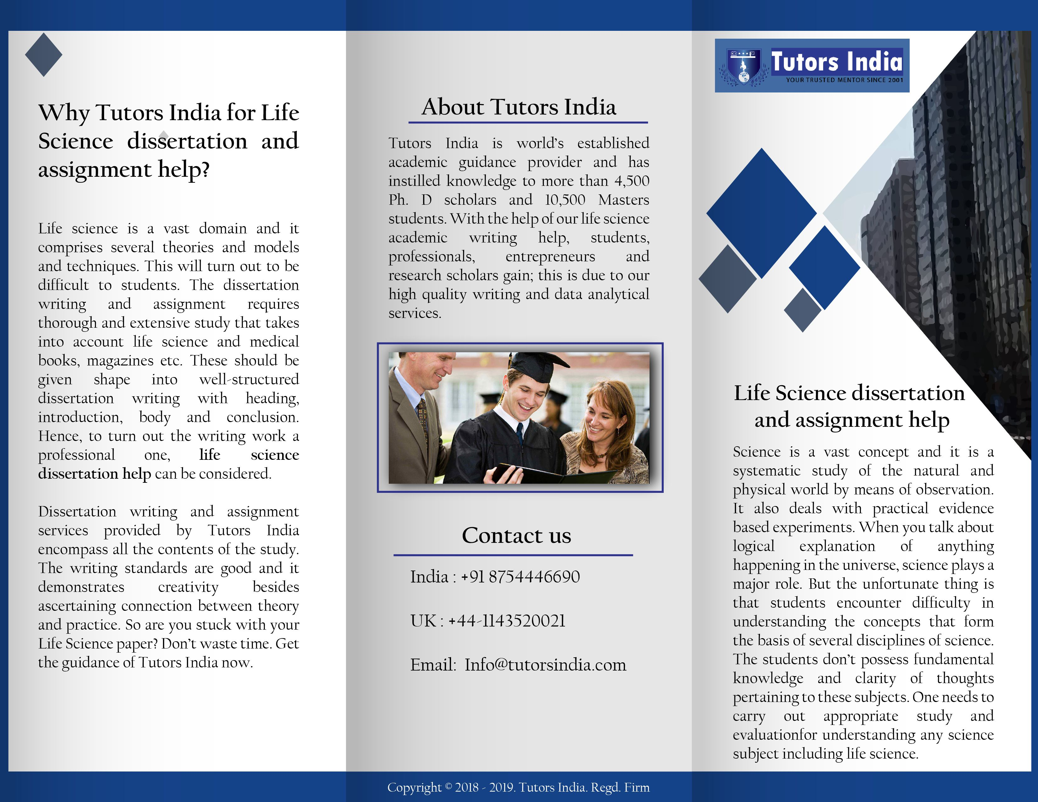 Get Biological And Life Science Thesi Help Assignment Manuscript Writing Editing Service M Dissertation On Education In India