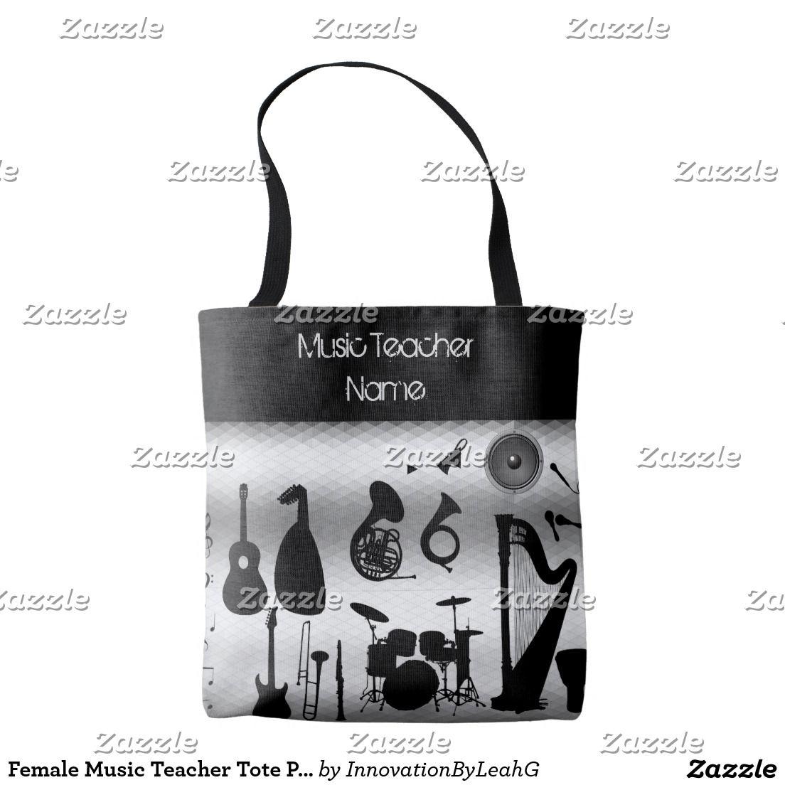 Female Music Teacher Tote Personalized Tote Bag