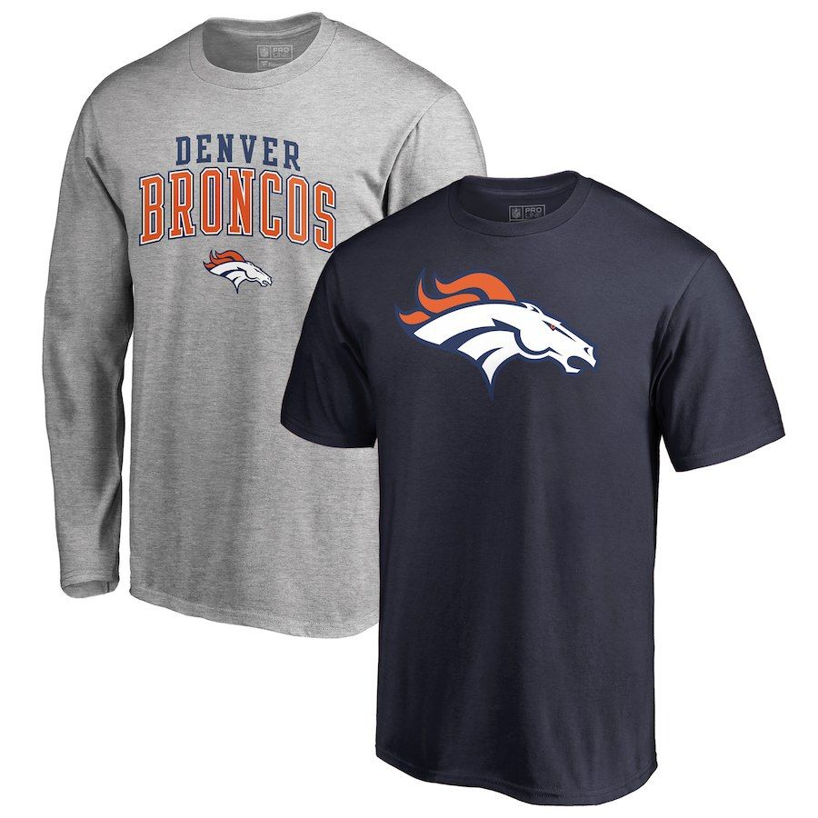 NFL Denver Broncos Team Wordmark Core T Shirt Orange Mens