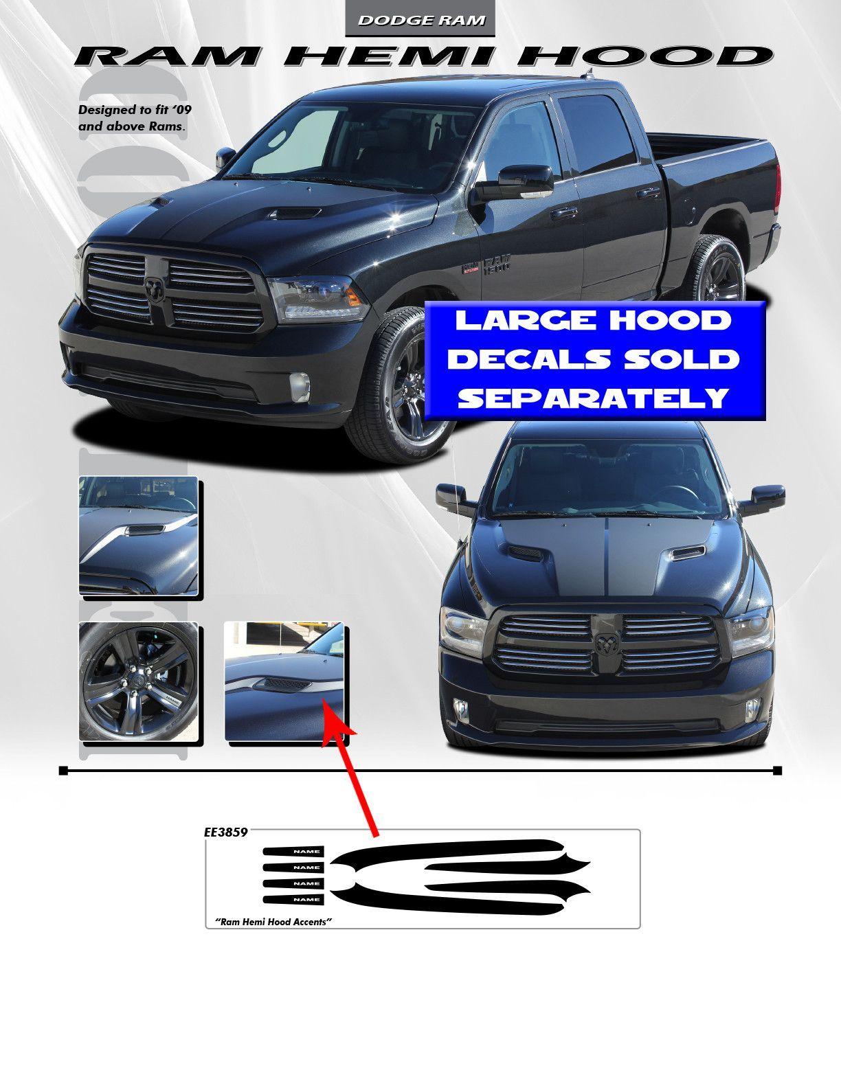 2009 Up Dodge Ram Hemi Hood Spears Wheel Stickers 3m Vinyl Graphics Kit Chevy Silverado Car Vinyl Graphics Vinyl Graphics