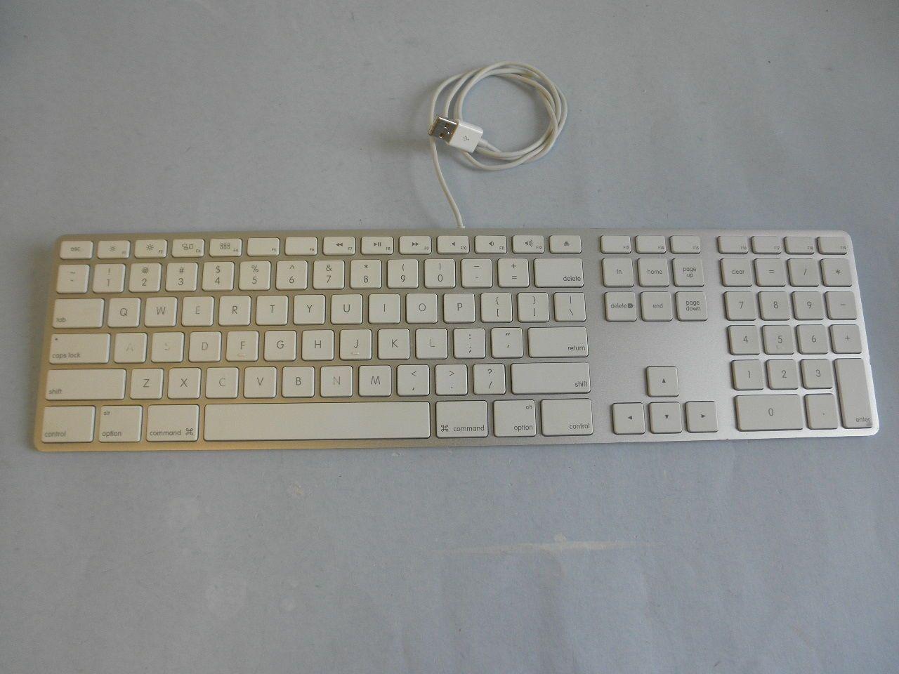 Original apple #a1243 #aluminum usb wired keyboard w/ numeric ...