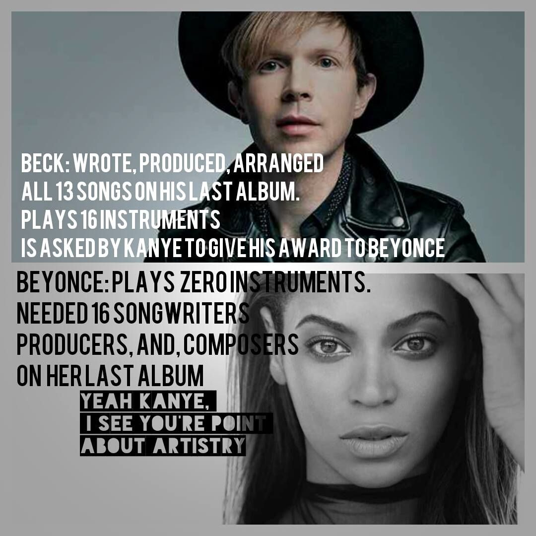 Beck Beyonce More Kanye West Drama Funny Memes Songwriting Beyonce