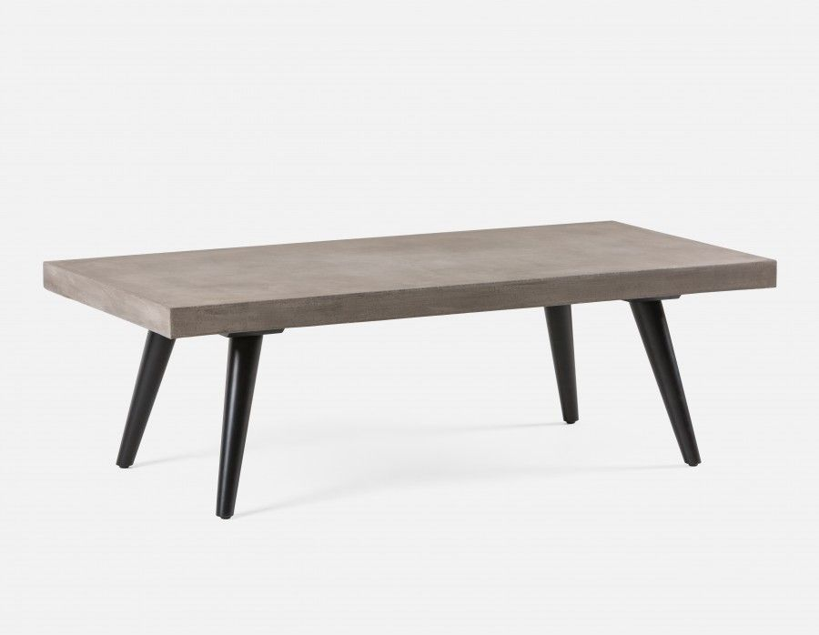 Nilsson coffee table with concrete top grey