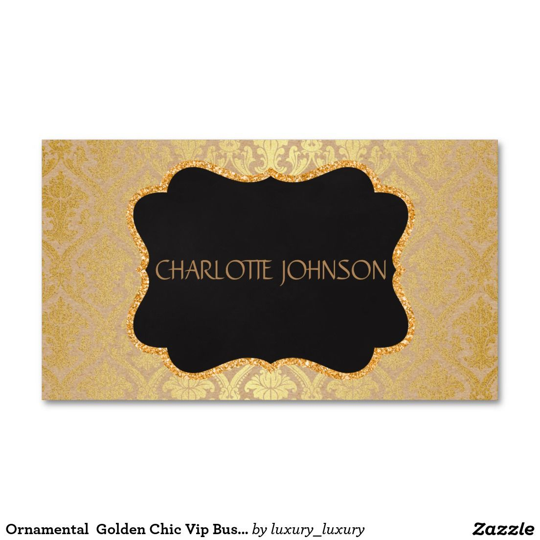 Ornamental Golden Chic Vip Business Card | Business Cards ...