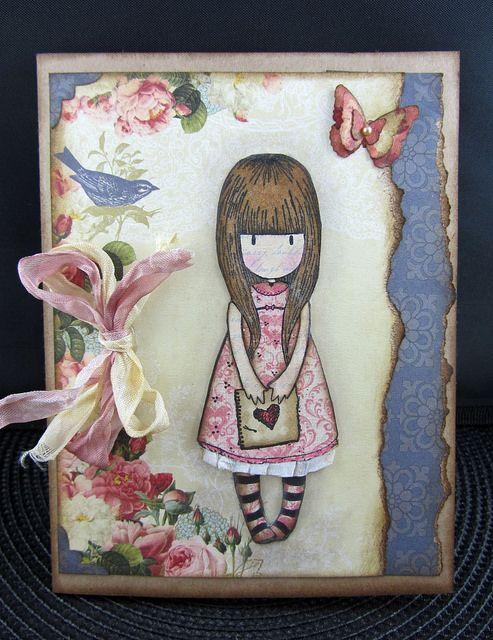 Gorjuss Girl Birthday Card Ideas Scrapbook Pinterest Girl