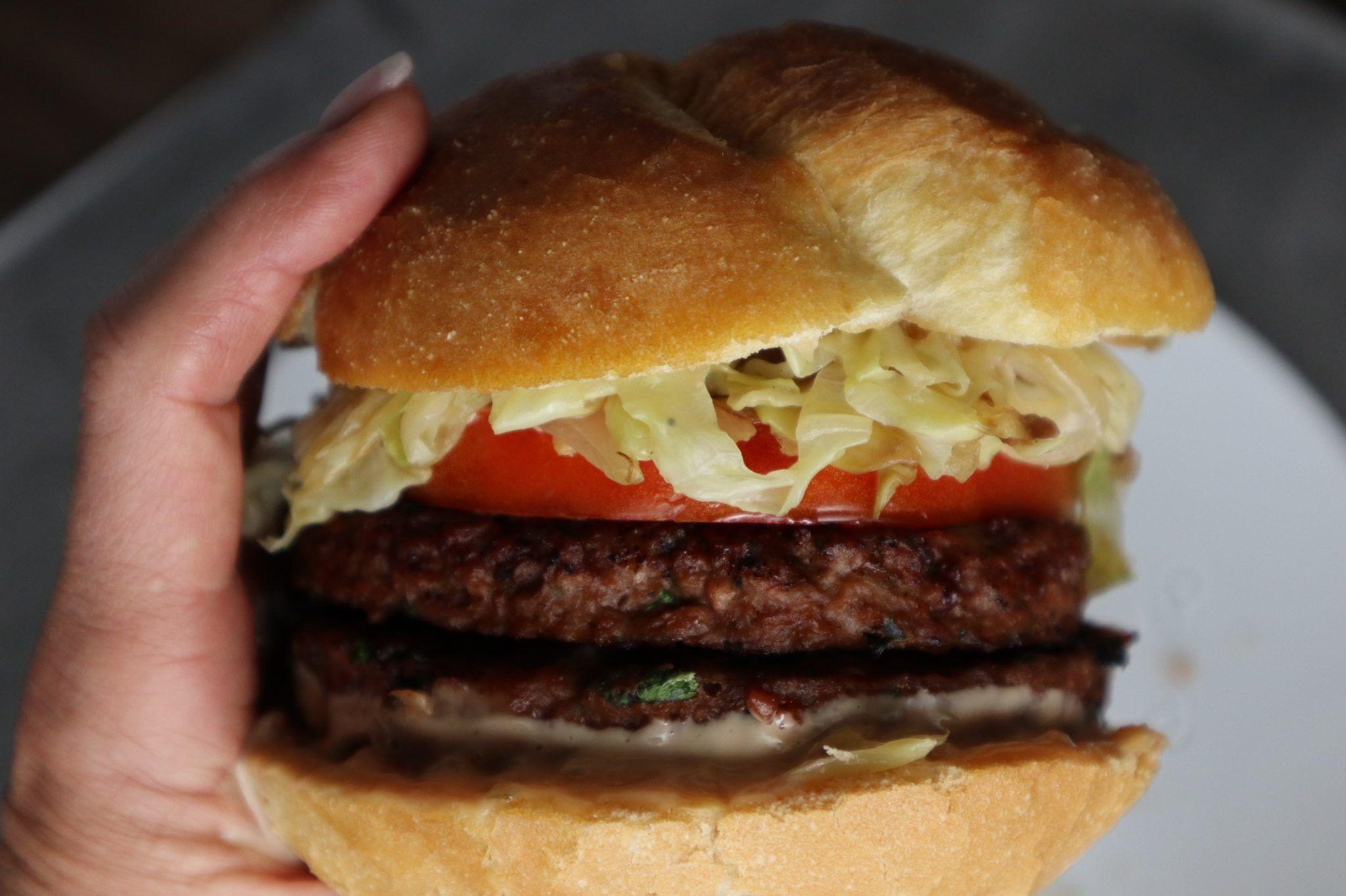 Beyond Meat Homemade Burger Vegan Grow With Doctor Jo Recipe Homemade Burgers Burger Beyond Meat Burger