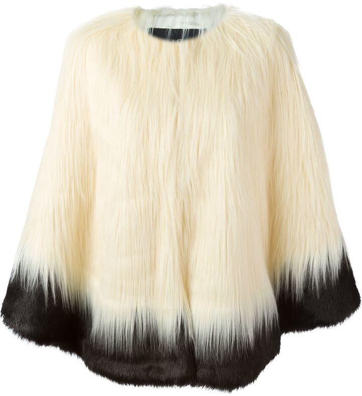 Unreal Fur two-tone faux fur jacket