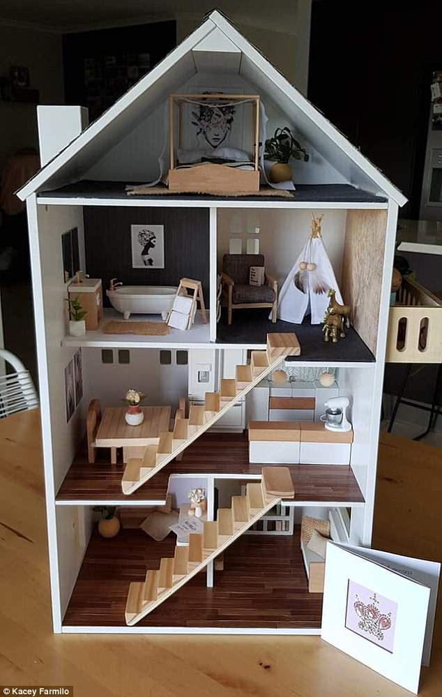 This crafty woman hacked a $30 Kmart dollhouse