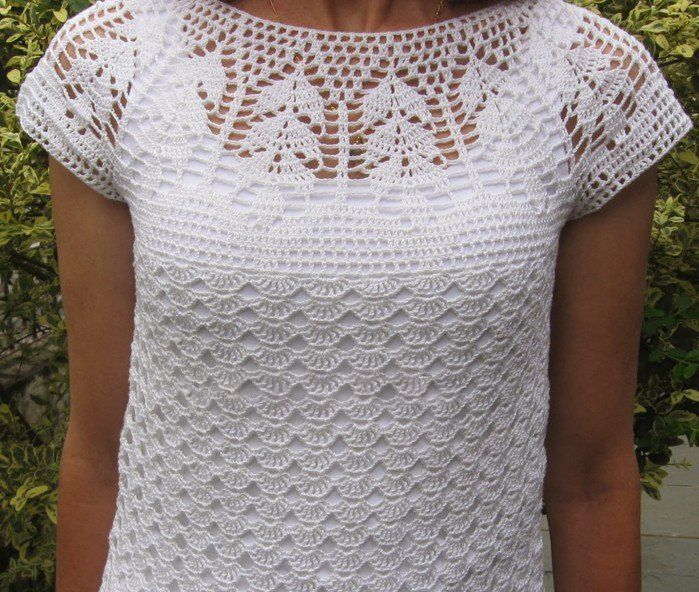 Crochet blouses are always on high because they are elegant and delicate at the same time.  The designs and figures that the crochet lines a...