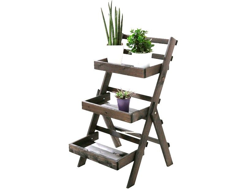Regal Drewniany Polka Stojak Na Rosliny Sadzonki 7315976700 Oficjalne Archiwum Allegro Ladder Bookcase Shelves Home Decor