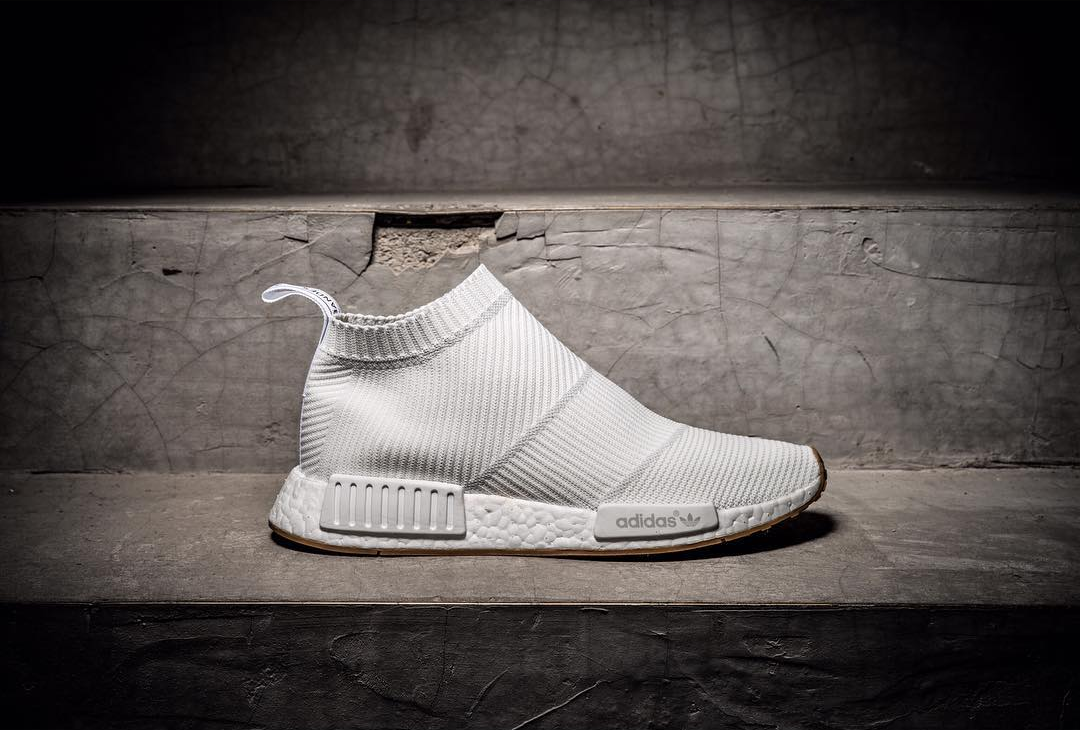 check out dc811 d6ce5 NMD City Sock White Gum