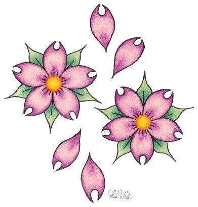 Cherry Blossoms Flower Drawing Japanese Flower Tattoo Cherry Blossom Drawing