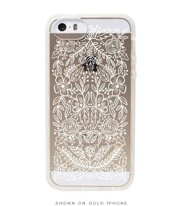 Clear Floral Lace iPhone 5+5s Case