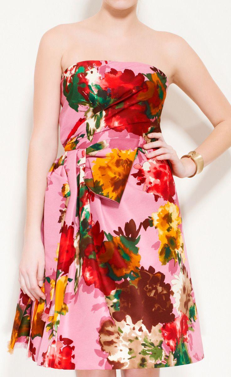 Oscar de la Renta Lilac, Yellow, Green, Red, Pink Dress | CLOTHES ...