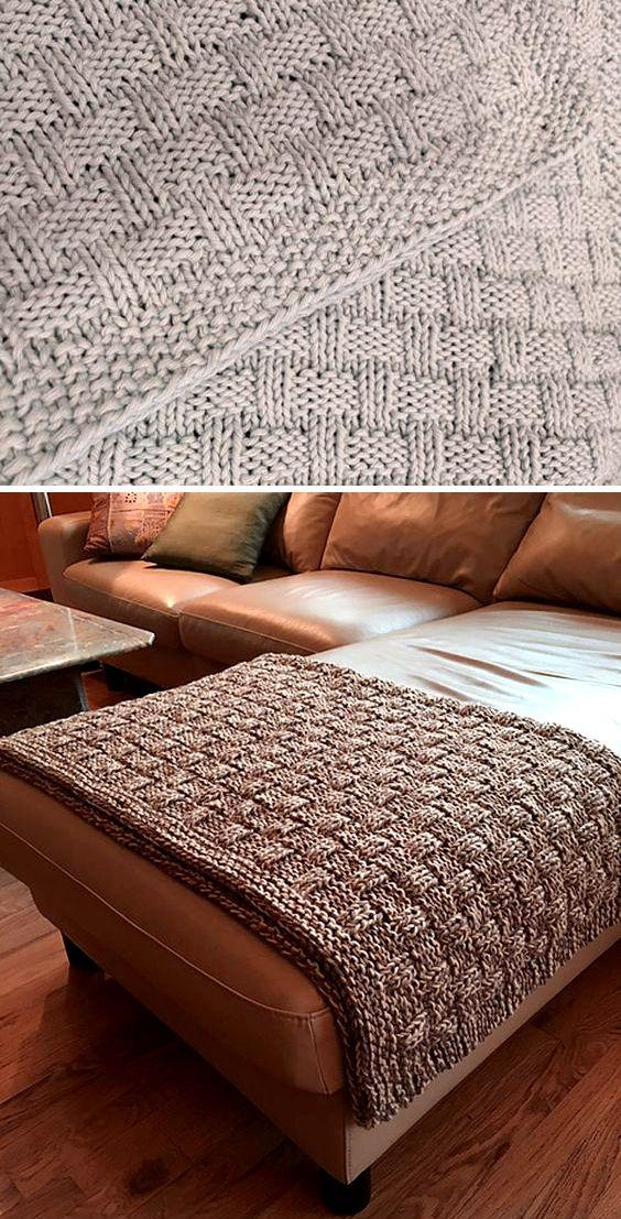 Photo of Easy Tweed Blanket – Free Pattern