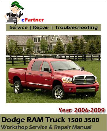 dodge ram truck 1500 3500 service repair manual 2006 2009 dodge rh pinterest co uk 2006 dodge ram service manual free download 2006 dodge ram service manual pdf