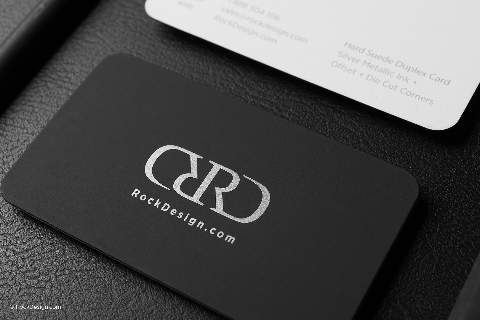 Modern black and white hard suede business card with rounded corners modern black and white hard suede business card with rounded corners rd colourmoves