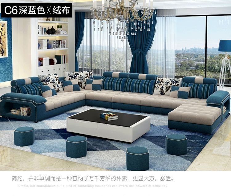 Living Room Sofa Set Home Furniture Modern Linen Hemp Velvet Fabric Sectional Sofas U Modern Sofa Living Room Living Room Sofa Set Furniture Design Living Room