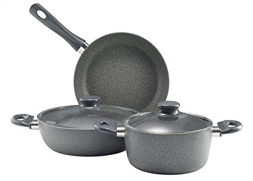 Essenso Neogranite Stone Austin 5piece Cookware Set Dishwasher Safe Nonstick Italian Stone Coating Check Out This G Cookware Set Specialty Cookware Cookware