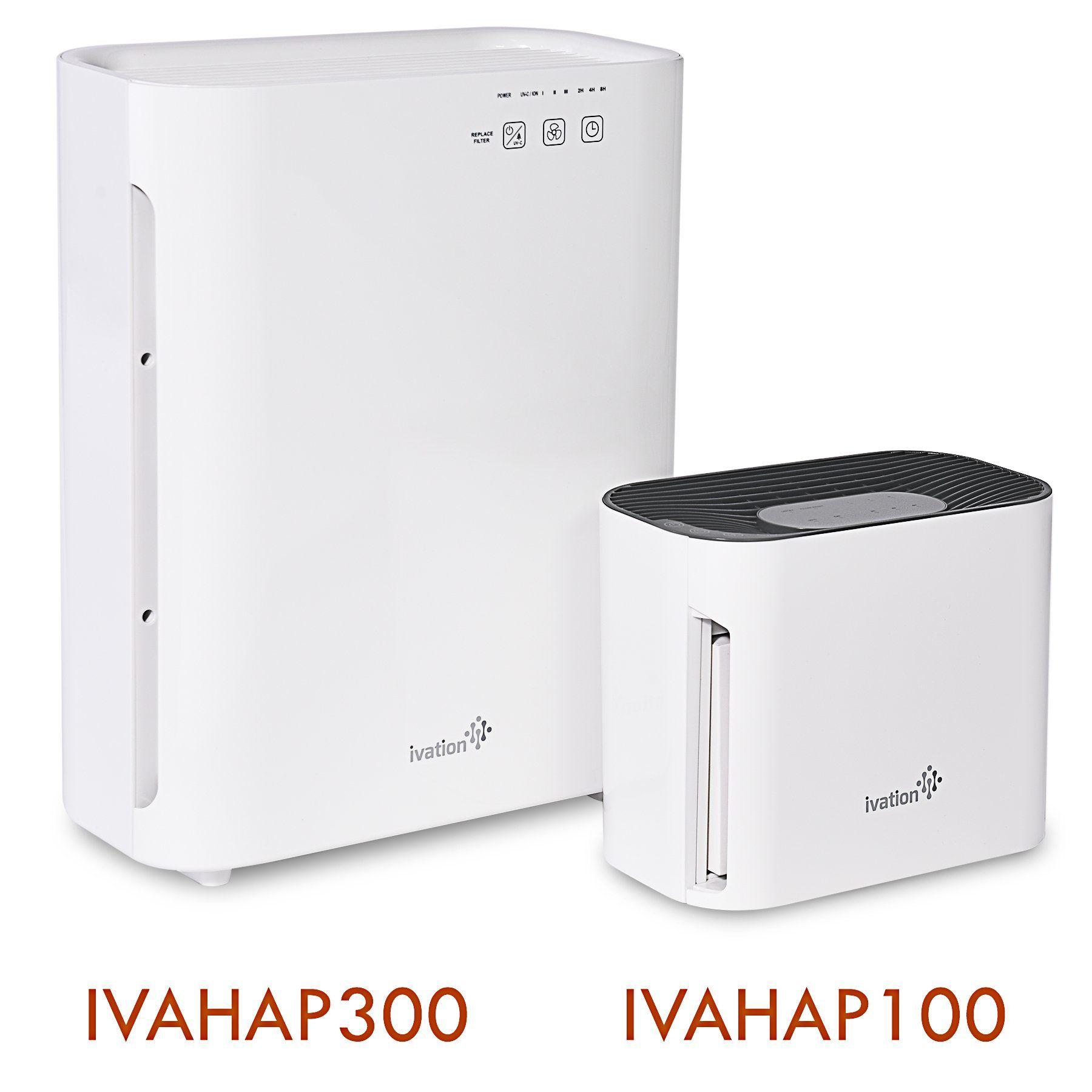 Ivation Medium Size 3in1 True HEPA Air Purifier Sanitizer