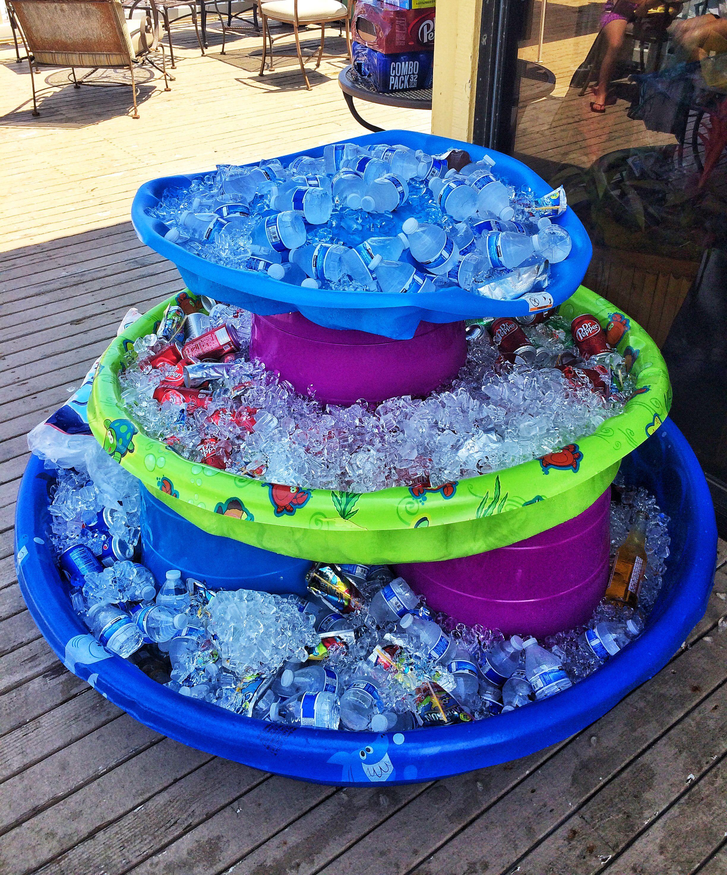 Kiddie Pool Drinks Fountain