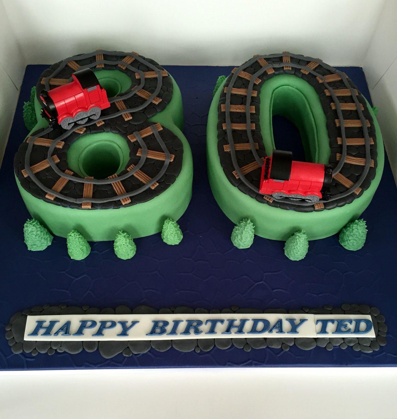 80th Birthday Steam Train Cake