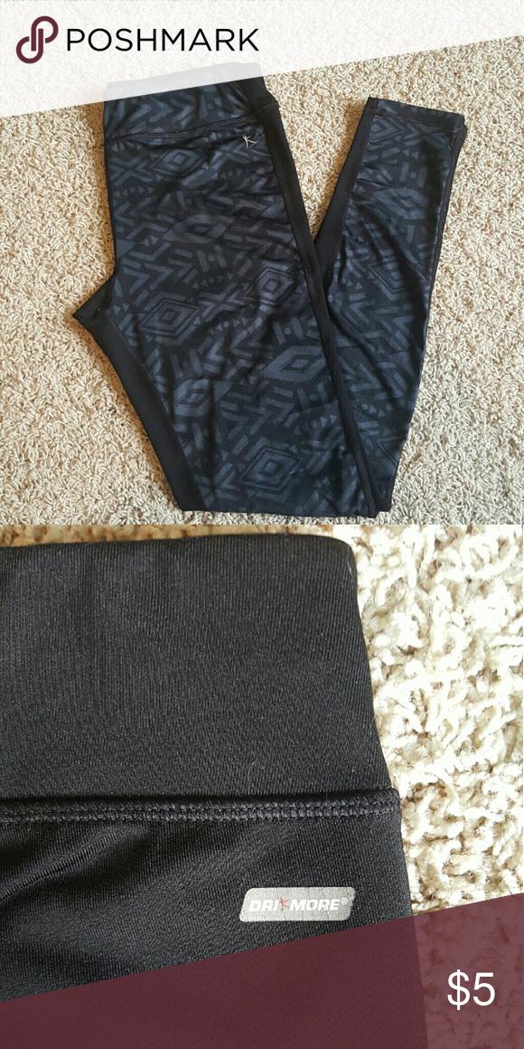 Workout pants! Stretchy, workout pants! Grey design on the front, plain black on the back! Size: S (4-6) Danskin Now Pants Track Pants & Joggers