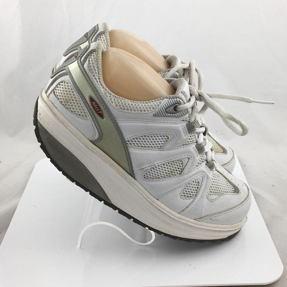 5d19e4544fa1 MBT Walking Toning Fitness Athletic Shoes Rocker White 400167-16 Womens  size 7.5  MBT  WalkingFitnessToning