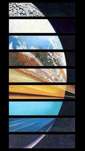 Todos os planetas do Sistema Solar em apenas uma foto.