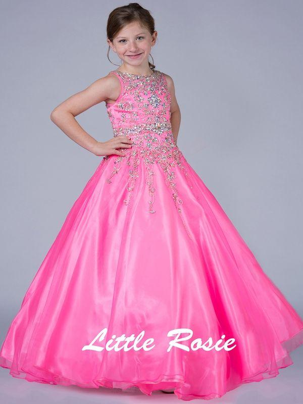 Little Rosie Floor Length Junior Pageant Dress | girls dresses ...