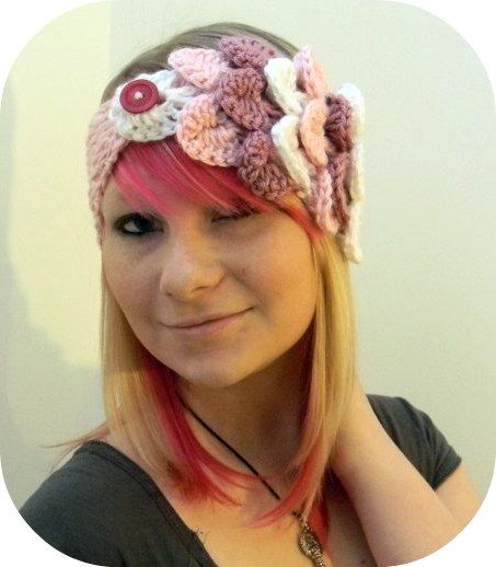 Free Crochet Pattern For Ladies Headband : Crochet Headbands & Ear Warmers on Pinterest Ear Warmers ...