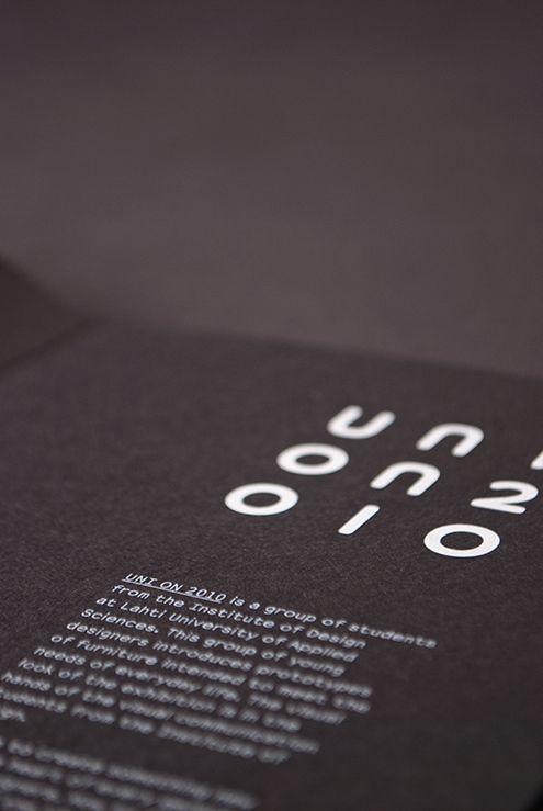 Uni On 2010 Identity by Aleksi Ahjopalo, via Behance