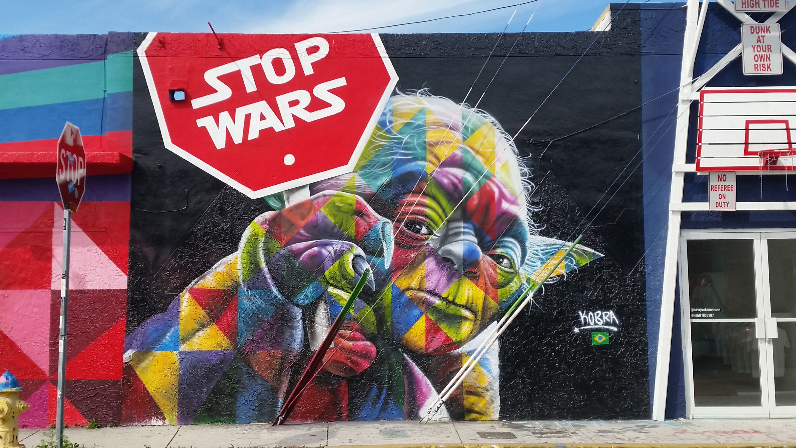 stop wars wynwood art district Miami Art, Art basel