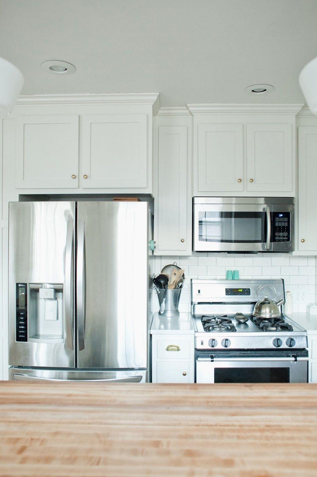 Kitchen Design Wall Oven Next To Refrigerator