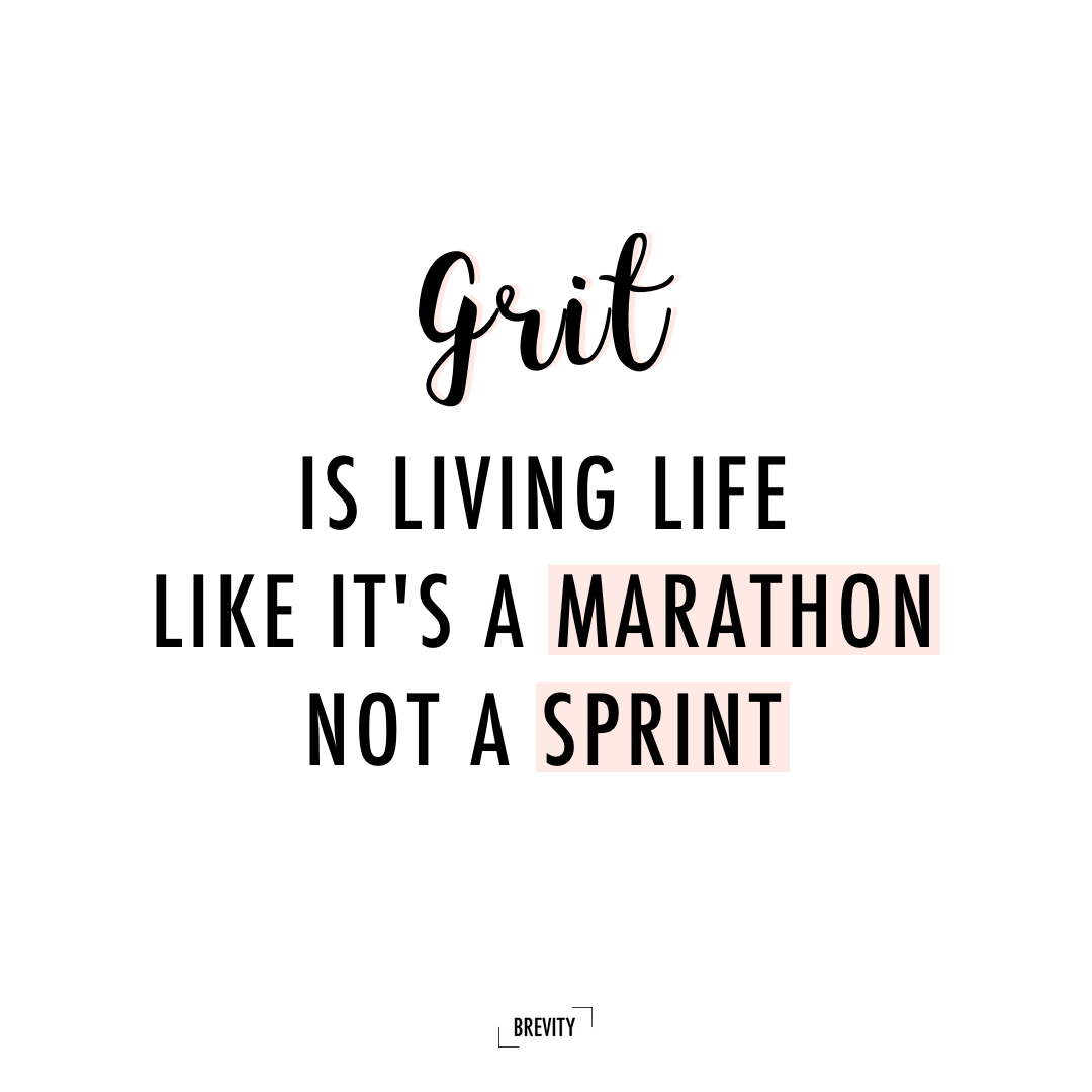 Grit Motivational Quotes: Grit Is Living Life Like It's A Marathon Not A Sprint