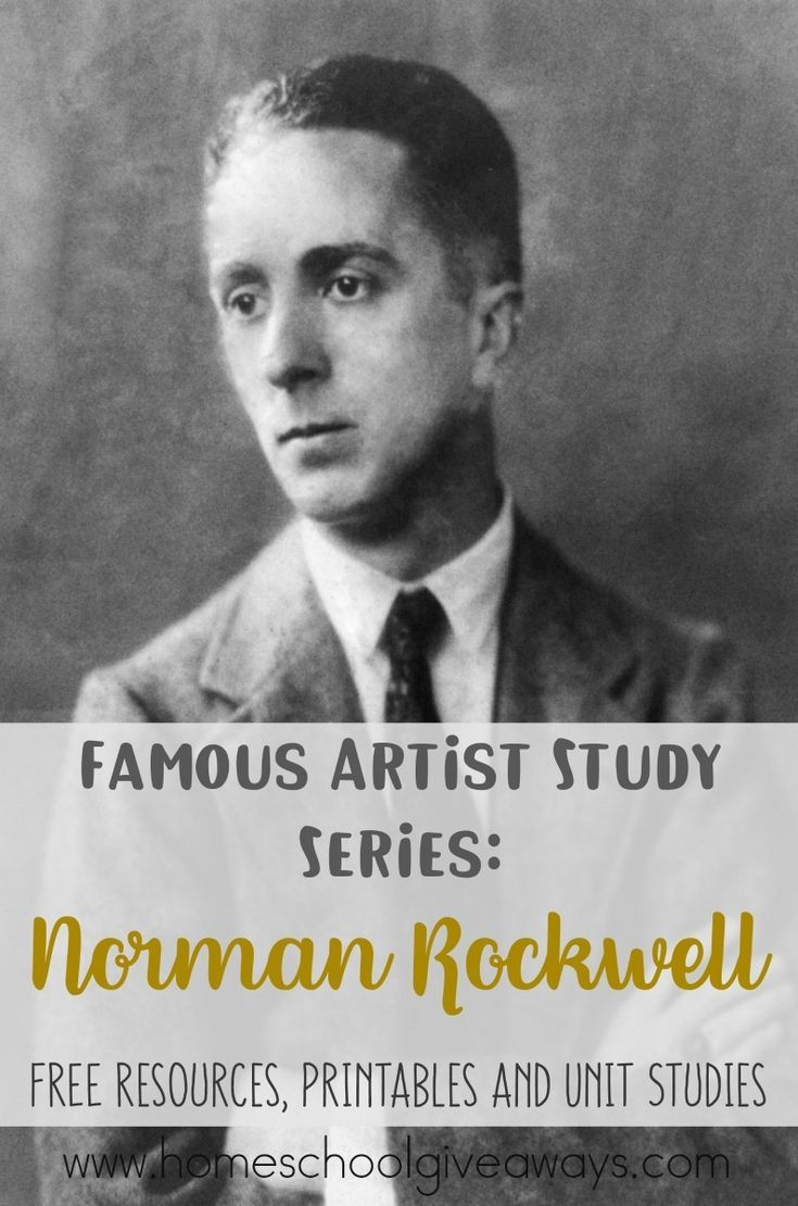 Famous Artist Study Series Norman Rockwell  Homeschool Giveaways