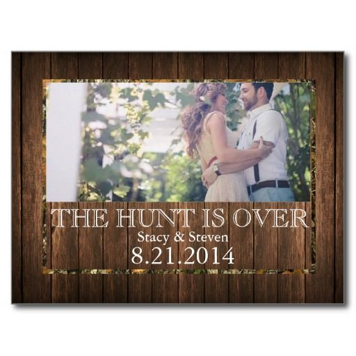 The Hunt Is Over Save The Date Wedding Postcard