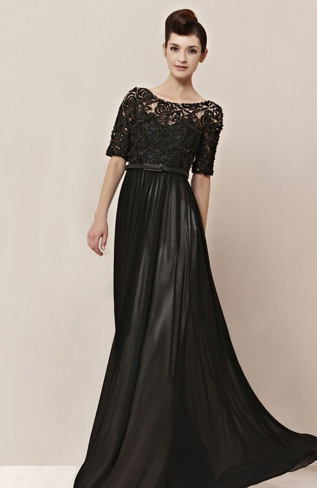 Black Lace Modest Formal Dresses | Fashionsup | Pinterest | Black ...
