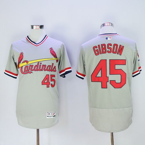 Men's St. Louis Cardinals #15 Randal Grichuk Retired Gray Pullover 2016 Flexbase Majestic Baseball Jersey